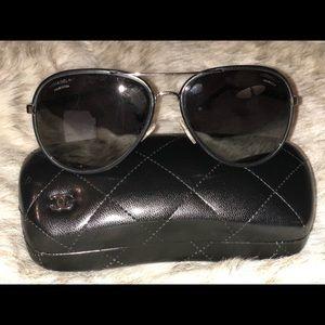 Chanel Polarized Pilot Sunglasses ch4219q59 gr pol
